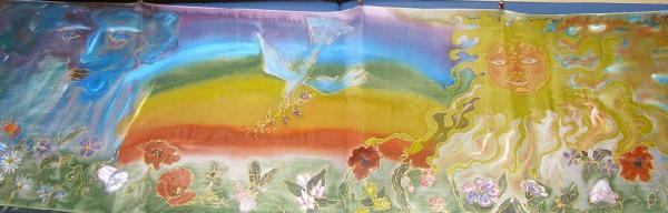 Šál Kvety a dúha