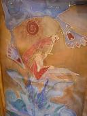 Šál 140 x 45 cm, modrohnedozelený druhá časť :D