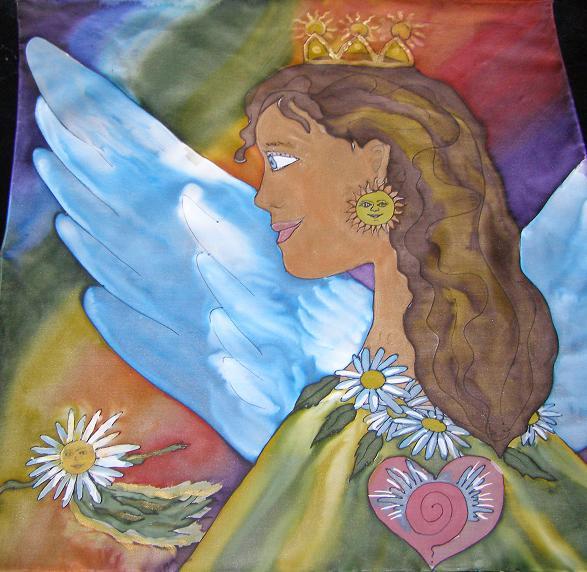 Anjel s korunou troch sĺnc