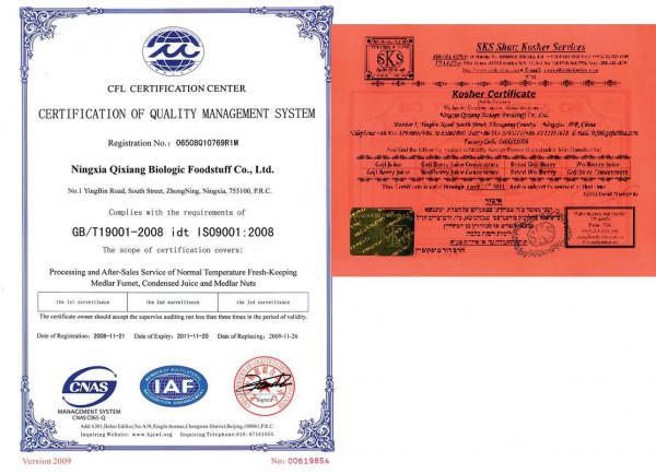 Certifikáty k Organic MIssion