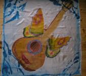 Šatka Gitara 90 x 90 cm