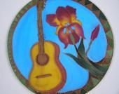 Kruh Gitara a kosatec 30 cm