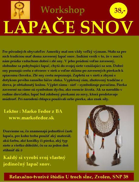 Lapače snov - workshop