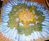 LEtný kruh - šatka 74 x 74 cm