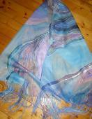 Modrý šál 150 x 40 cm