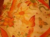 Oranžová anjel a kvety 74 x 74