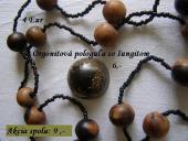 Orgonitová pologuľa so šungitom + korálky
