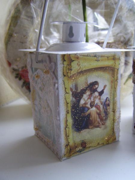 Svietničky biele s anjelmi