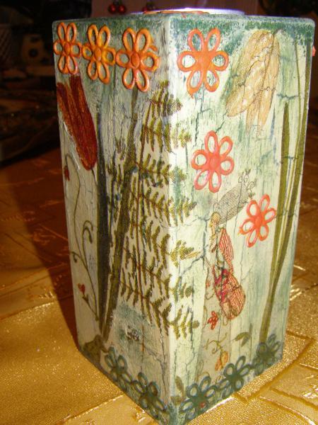 Svietnik drevený Papraď
