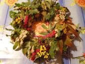 Venček na dvere na jesennú rovnodennosť /keltský sviatok Alban Elfed /