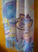 MOdrý šálik 180 x 45 cm