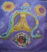 Fialová s hadom 55 x 55 cm