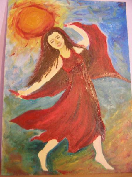 Tanec v červenej - olej