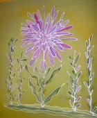 Vankúš 45 x 45 cm Žltý - kvet