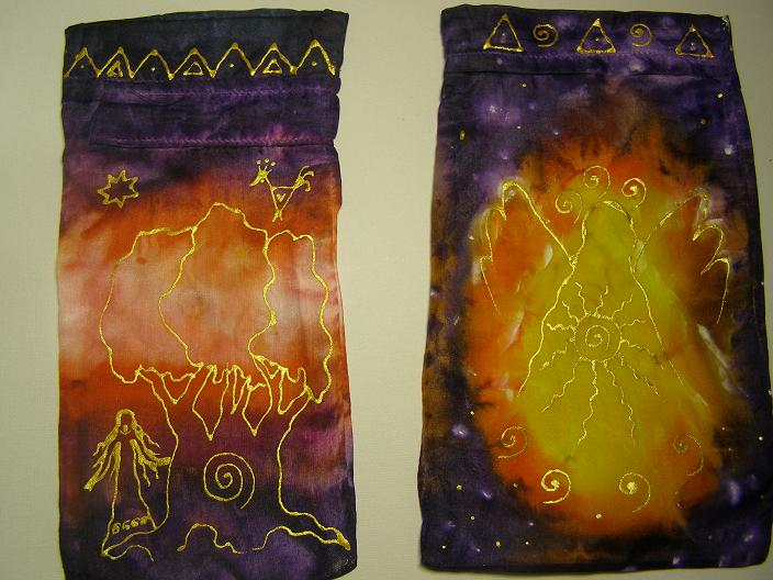 Vrecúška na anjelské karty, kamienky, bylinky  :)