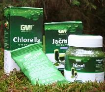 zelene potraviny chlorela jačmeň