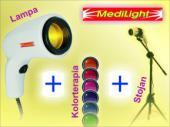 Medilight - set /lampa, stojan, farebné filtre na kolorterapiu /