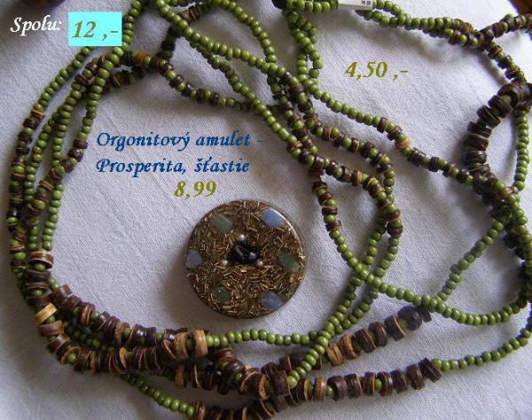 Korálky a orgonitový amulet