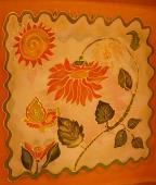 Vankúš oranžová - kvet 1